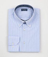 Button Down Light Blue Checks Poplin Shirt