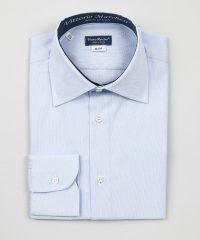French Collar Shirt Light Blue Oxford