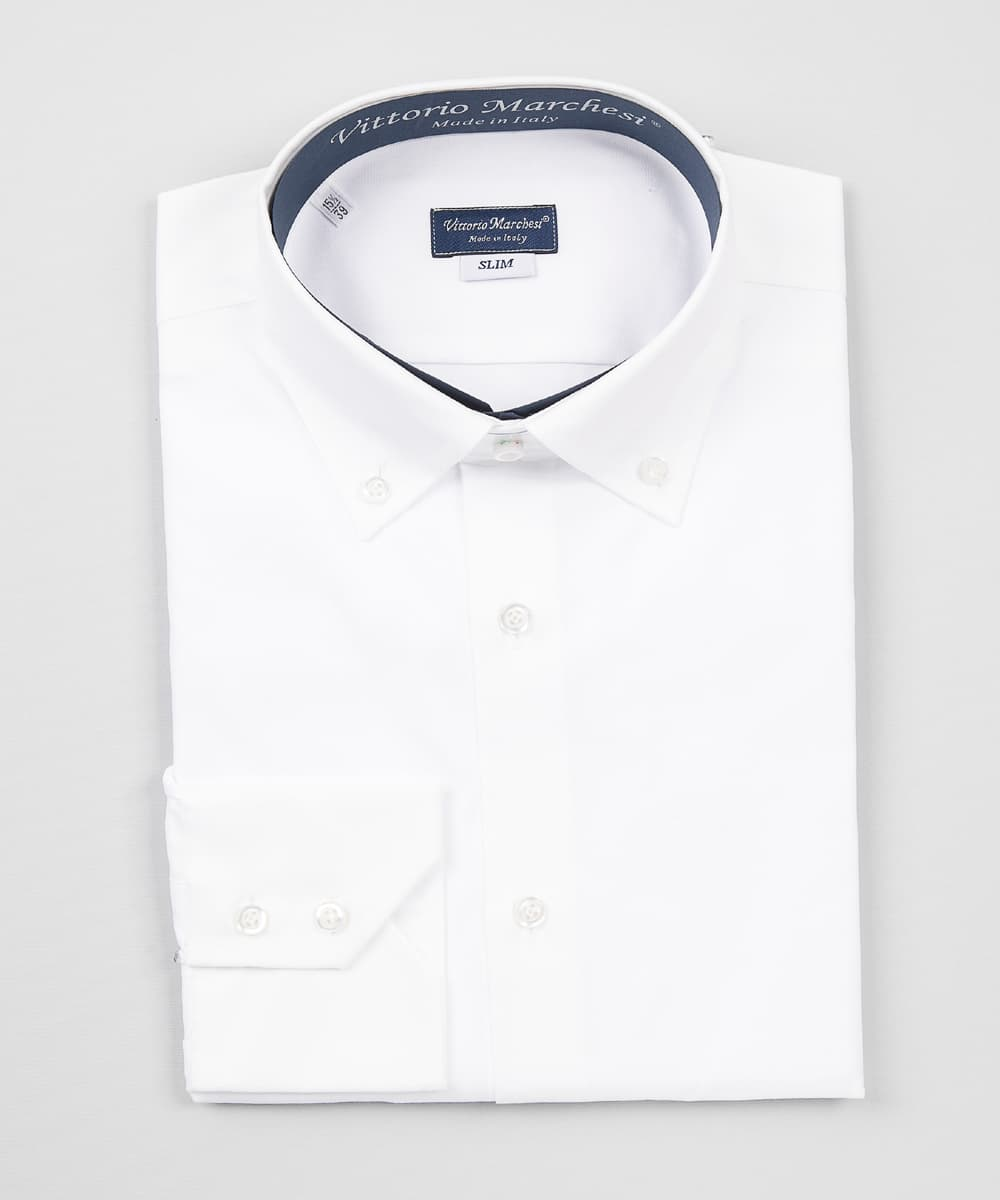 Button Down Shirt White Twill